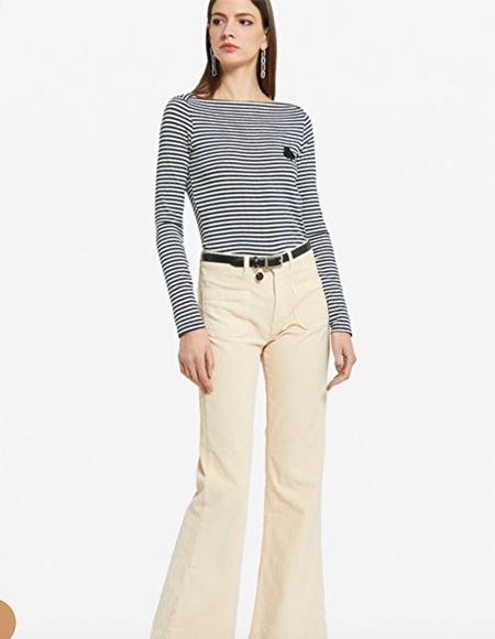 pantalons jaune blanc cometomilan bruxelles - Pantalons pour femmes