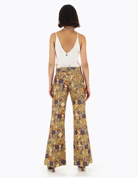 pantalon3 jaune blanc cometomilan bruxelles - Pantalons pour femmes